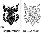 thai painting style vector... | Shutterstock .eps vector #1030656004