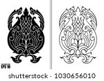 thai painting style vector... | Shutterstock .eps vector #1030656010