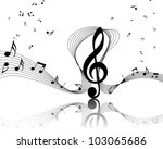 musical notes staff background... | Shutterstock . vector #103065686