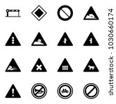 solid vector icon set   barrier ... | Shutterstock .eps vector #1030660174