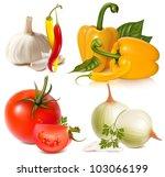 vector set of vegetables ...   Shutterstock .eps vector #103066199