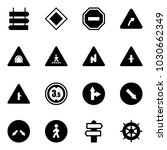 solid vector icon set   sign... | Shutterstock .eps vector #1030662349