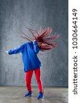 young beautiful female dancer... | Shutterstock . vector #1030664149