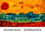 beautiful painted seascape...   Shutterstock . vector #1030666354