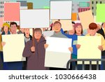 a vector illustration of people ... | Shutterstock .eps vector #1030666438