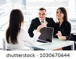 confident young woman explain... | Shutterstock . vector #1030670644