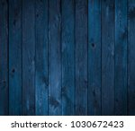 dark blue wood texture or background - stock photo