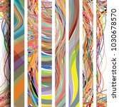 wavy lines overlapping at image ... | Shutterstock .eps vector #1030678570