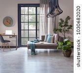 modern living room decoration... | Shutterstock . vector #1030682020