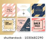 modern promotion square web... | Shutterstock .eps vector #1030682290