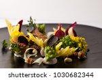 fine dining meal in a fancy... | Shutterstock . vector #1030682344