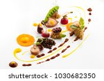 fine dining meal in a fancy... | Shutterstock . vector #1030682350