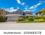 big custom made luxury house... | Shutterstock . vector #1030683178