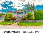 big custom made luxury house... | Shutterstock . vector #1030683190