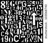 spray paint industrial font and ... | Shutterstock . vector #103068740