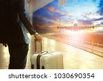 business man and traveling... | Shutterstock . vector #1030690354