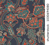 floral seamless vintage pattern.... | Shutterstock .eps vector #1030694080