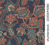 floral seamless vintage pattern.... | Shutterstock .eps vector #1030694080