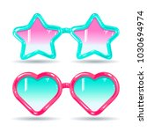 sunglasses in disco style ... | Shutterstock .eps vector #1030694974