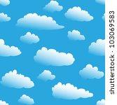 seamless fluffy cloudy... | Shutterstock . vector #103069583