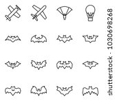 flat vector icon set   plane... | Shutterstock .eps vector #1030698268