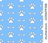 Seamless Vector Pattern Of Dog...