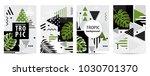 trendy tropic pattern covers... | Shutterstock .eps vector #1030701370