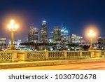 skyscrapers in downtown los... | Shutterstock . vector #1030702678