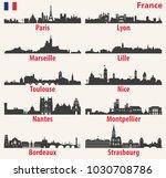 vector cites skylines... | Shutterstock .eps vector #1030708786