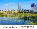 singapore  01 21 2018  lotuses... | Shutterstock . vector #1030712050