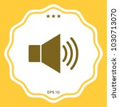 volume web symbol icon | Shutterstock .eps vector #1030713070