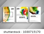 abstract colorful three... | Shutterstock .eps vector #1030715170