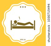 smoking in bed icon | Shutterstock .eps vector #1030715494