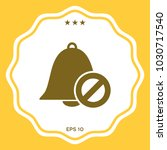 no bell icon. prohibition sign. ... | Shutterstock .eps vector #1030717540