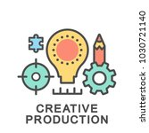icon creative production.... | Shutterstock .eps vector #1030721140