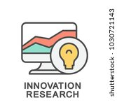 icon innovation research.... | Shutterstock .eps vector #1030721143