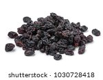 heap of dried currants isolated ... | Shutterstock . vector #1030728418