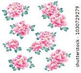 japanese style peony  design of ...   Shutterstock .eps vector #1030729279