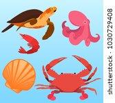 vector flat illustration of... | Shutterstock .eps vector #1030729408