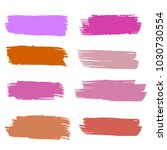 set of hand painted colorful... | Shutterstock .eps vector #1030730554