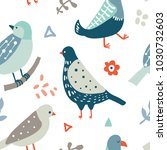 colorful seamless pattern with... | Shutterstock .eps vector #1030732603