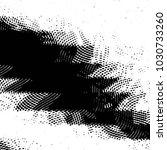 grunge halftone black and white ... | Shutterstock .eps vector #1030733260