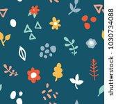simple minimalistic seamless... | Shutterstock .eps vector #1030734088