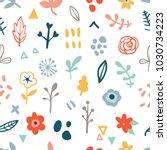 simple minimalistic seamless... | Shutterstock .eps vector #1030734223