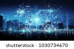 digital binary code connection...   Shutterstock . vector #1030734670