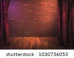 stand up comedy background  red ... | Shutterstock . vector #1030736053