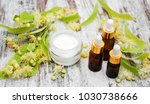 spa products with linden... | Shutterstock . vector #1030738666