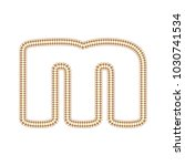 m sewing letter logo icon design | Shutterstock .eps vector #1030741534