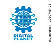 digital planet global... | Shutterstock .eps vector #1030745428