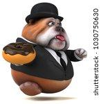 fun bulldog   3d illustration | Shutterstock . vector #1030750630